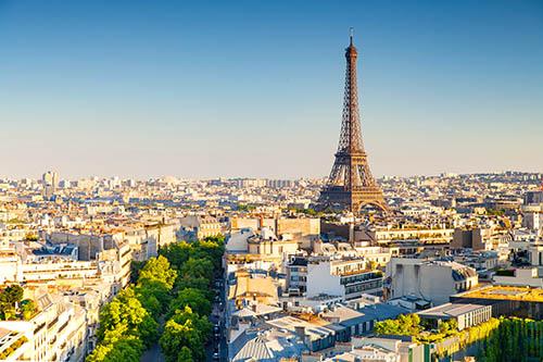 quartier de Paris avec la Tour Eiffel