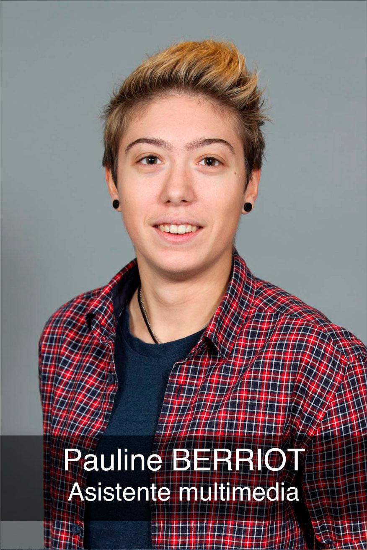 portrait photo de l\'assistante multimédia Pauline Berriot