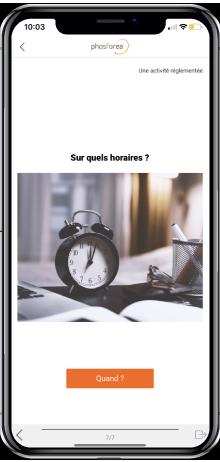 smartphone avec l'application mobile Phosforea de sensibilisation à la cybersécurité