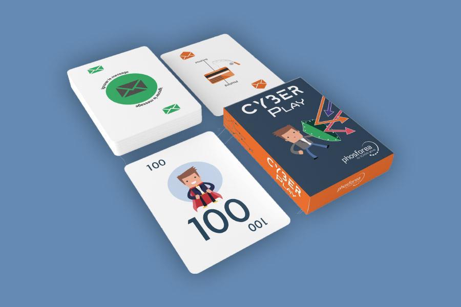 jeu de cartes Cyberplay de sensibiisation à la cybersécurité