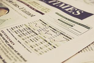 un journal à la page économie